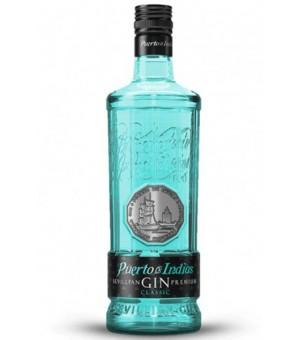 Gin Puerto Indias Classic -Azul - 70 Cl.